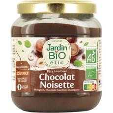 JARDIN BIO ETIC Pâte à tartiner chocolat noisette sans huile de palme 350g