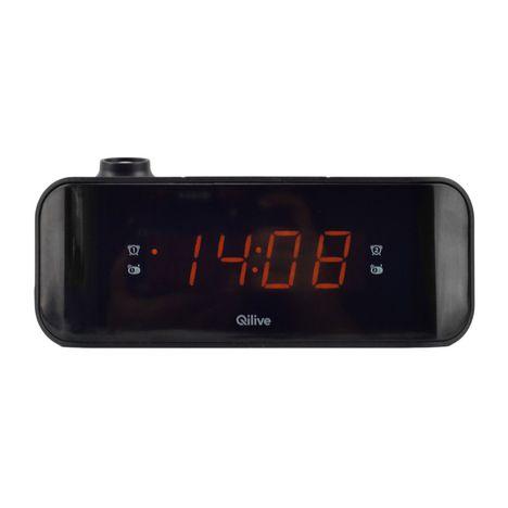 QILIVE Radio réveil projecteur - Noir - Q1137