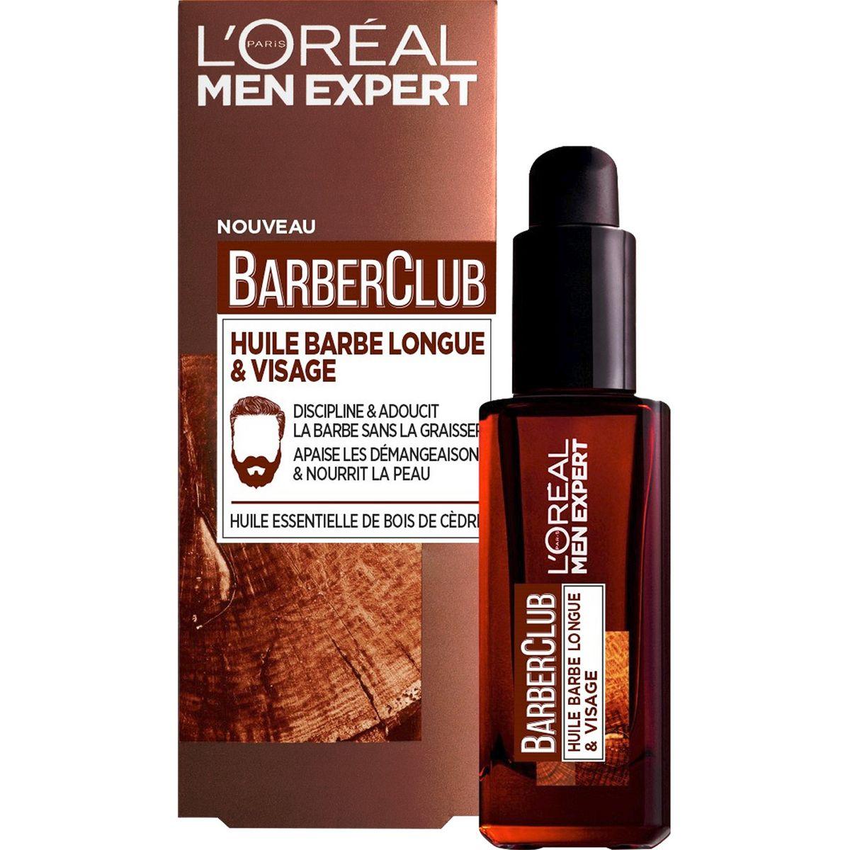 L'Oréal Barber Club huile barbe longue & visage 30ml