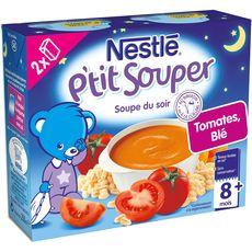 NESTLE Nestlé p'tit souper tomates blé 2x250ml dès 8mois