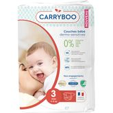 Carryboo couches dermo sensitives 4/9kg x54 taille 3