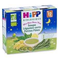 HIPP Hipp Bio soupe légumes verts pâtes brique 2x250ml dès 12mois