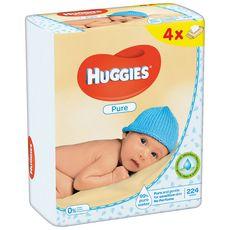 Huggies Pure lot lingettes nettoyantes pour bébé 4x56