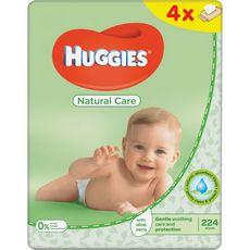 Huggies Natural care lot lingettes nettoyantes à l'aloe vera 4x56