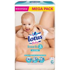 Lotus baby Touch couches taille 3 (4-9kg) x72