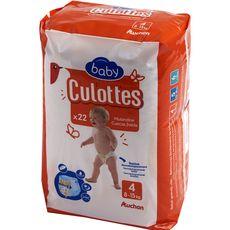 Auchan baby culottes évolution 9/15kg x22 taille 4