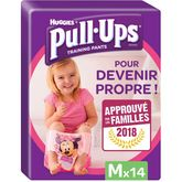 Huggies Pull-Ups fille Taille M x14 couches-culottes