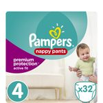 Pampers active fit pants geant 7/18kg x32 taille 4