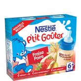 Nestlé p'tit goûter lait fraise poire 2x250ml dès 6mois