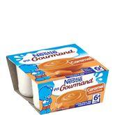 Nestlé p'tit gourmand caramel 4x100g dès 6mois
