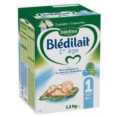 BLEDINA Blédina Blédilait 1 sachet lait 1er âge en poudre dès la naissance 1,2kg 1,2kg