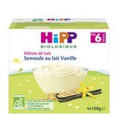 HiPP délices de lait semoule au lait 4x100g 6mois