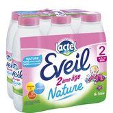 Lactel Eveil nature 2ème âge bouteille 6x1l dès 6mois