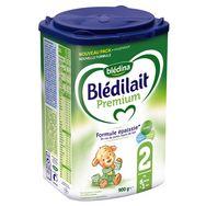 Blédina Blédilait Premium 2 lait 2ème âge épaissi en poudre dès 6 mois 900g