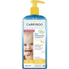 CARRYBOO Eau nettoyante micellaire au calendula bio pour bébé 500ml