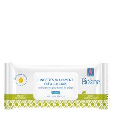 Biolane Lingettes au liniment oléo-calcaire hypoallergéniques pour bébé x64