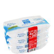 Mixa bébé lingettes au lait 4x72
