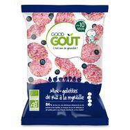 Good Goût bio mini-galettes de riz à la myrtille 40g dès 10m