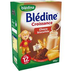 Blédine croissance choco biscuitée en poudre 500g dès 12mois