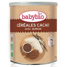 Babybio céréales cacao bio 220g dès 8mois