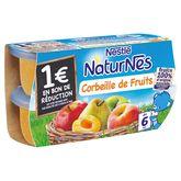 Nestlé Naturnes corbeille de fruits 4x130g dès 6 mois