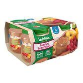 Blédina pomme framboise pot 4x130g dès 6 mois