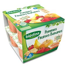 BLEDINA Blédina blédi fruits pomme fraise banane 8x100g dès 6 mois