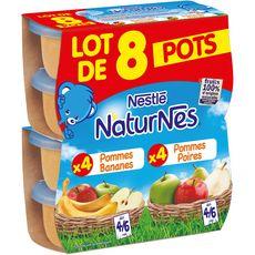 Nestlé Naturnes pomme poire / pomme banane 8x130g dès 6mois