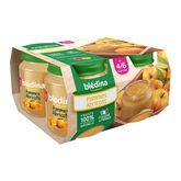 Blédina pots fruits pomme abricot 4x130g dès 4-6mois