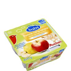 AUCHAN BABY Auchan baby Petit pot dessert pomme coing et banane dès 6 mois 4x97g 4x97g
