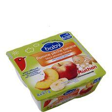 AUCHAN BABY Auchan baby Petit pot dessert pomme pêche banane dès 6 mois 4x97g 4x97g