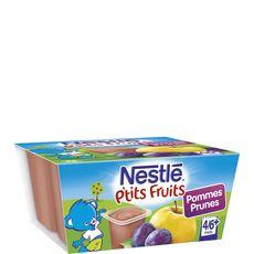 NESTLE Nestlé p'tit fruit pomme prune 4x100g dès4-6mois