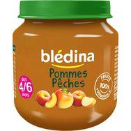 Blédina pommes pêches pot 130g dès 4/6mois