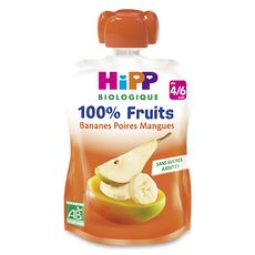 Hipp bio gourde banane poire mangue 90g dès 4/6 mois