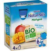 Nestlé Nestlé Naturnes gourde dessert à la mangue bio dès 8 mois 4x90g