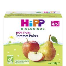 HiPP HIPP Petit pot dessert pommes poires bio dès 4 mois