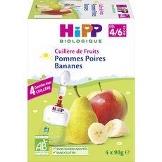 HIPP Hipp Gourde dessert pomme poire banane bio dès 4 mois 4x90g 4x90g
