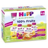 HiPP gourdes multipack 4 variétés 8x90g dès 4-6 mois