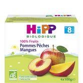 HiPP 100% fruits pommes pêches mangues 4x100g dès 8mois