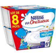 Nestlé p'tit onctueux coupelles natures 8x100g