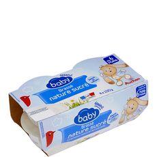 Auchan baby Petit pot dessert lacté brassé nature sucré dès 6 mois 4x100g