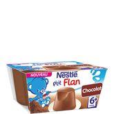 Nestlé petit flan chocolat 4x100g dès 6 mois