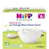 HiPP fromage blanc nature sucré 4x100g dès 6mois
