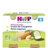 HiPP Hipp Petit pot gratin de courgettes petits légumes bio dès 8 mois 2x190g