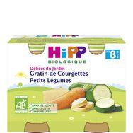 Hipp bio mes premiers légumes gratin de courgettes 2x190g 8m