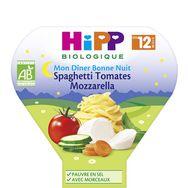 Hipp bio mon dîner spaghetti tomate mozzarella 230g 12 mois