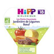 Hipp bio jardinière de légumes boeuf assiette 260g 18 mois