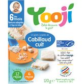 Yooji cabillaud cuit pêche durable galet x12 dès 6mois