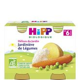 HiPP jardinière de légumes pots 2x190g dès 6mois