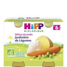 Hipp bio jardinière de légumes pots 2x190g dès 6mois